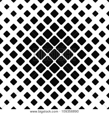 Seamless monochrome rounded square pattern