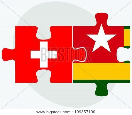 Switzerland And Togo Flags