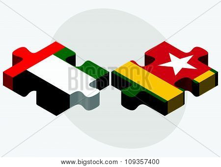 United Arab Emirates And Togo Flags