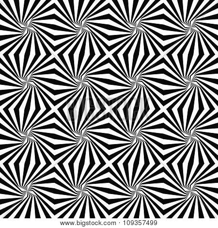 Monochrome seamless rotated stripe pattern background