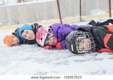 Winter glass row child