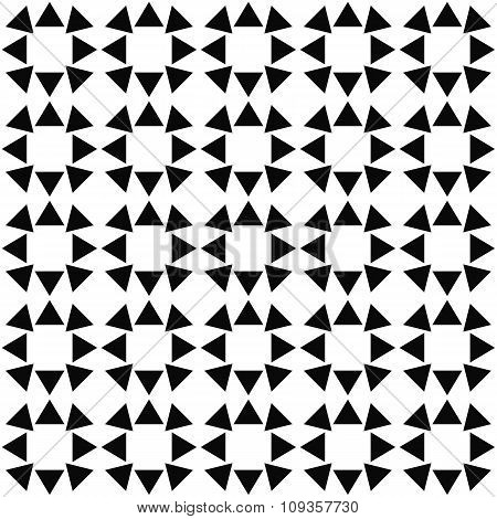 Seamless monochrome triangle pattern background