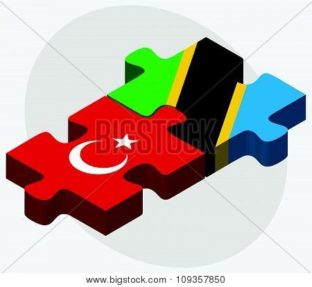Turkey And Tanzania Flags