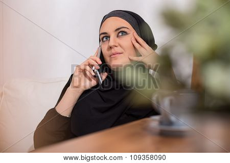 Arabic Woman With A Phone