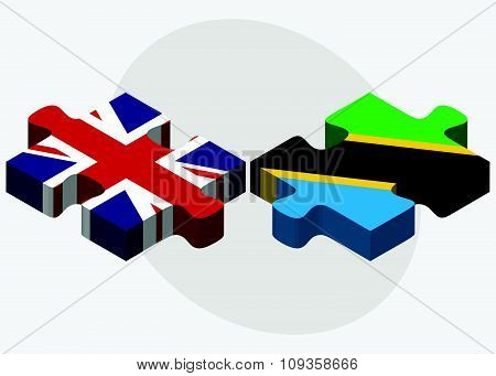 United Kingdom And Tanzania Flags