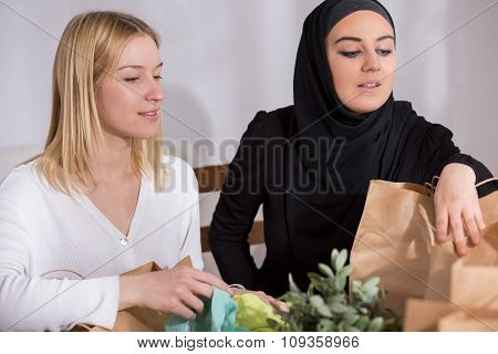 Arabic Woman With Her Friend