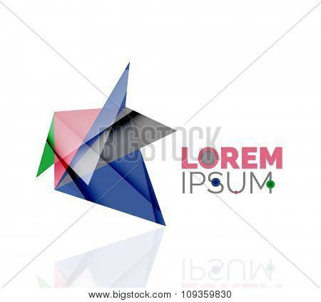 Logo, abstract geometric business icon. illustration
