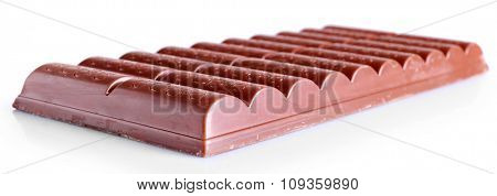 Chocolate bar, isolated on white