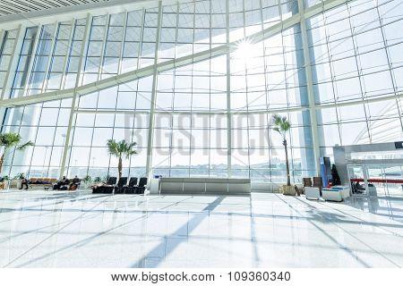 interior of modern hall