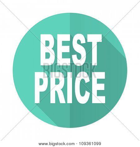 best price blue web flat design circle icon on white background