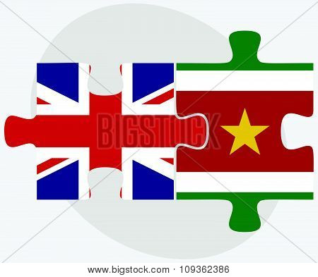 United Kingdom And Suriname Flags