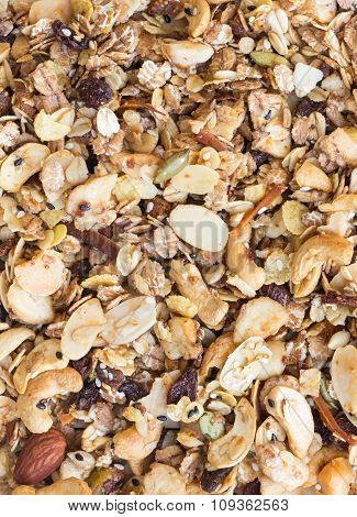 Pile Of Granola Cereal