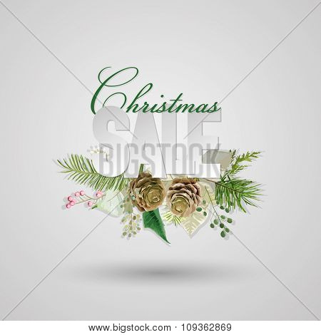 Christmas Sale Banner - in vector