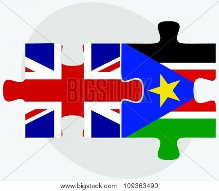 United Kingdom And South Sudan Flags