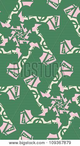 Green Kaleidoscope Background