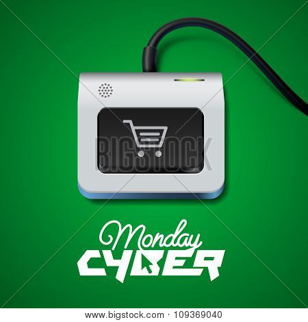 Cyber Monday button on keyboard