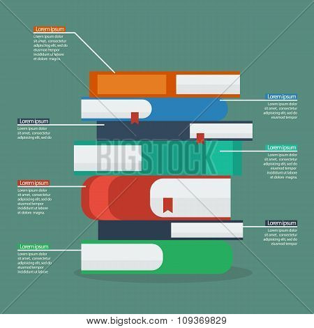 Stack Of Books Infographic