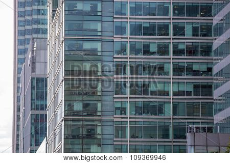 LONDON, UK - SEPTEMBER 14, 2015: Office buildings of Canary Wharf, international business and bankin