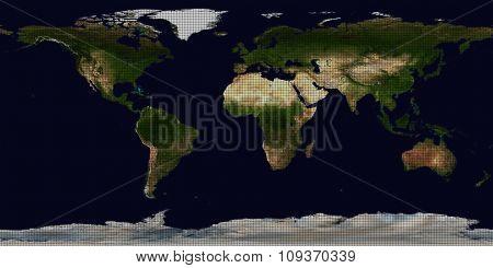 Abstract Polka dot World map