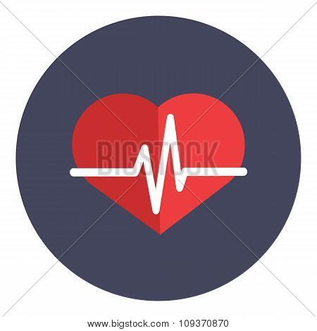 Heartbeat icon concept vector