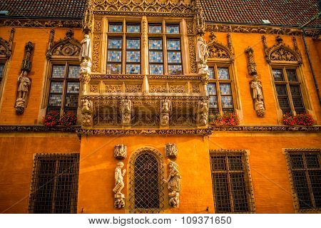 Architectural fragment of town Hall in Wroclaw