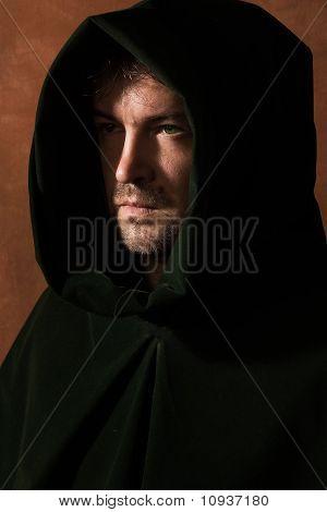 Man In A Medieval Hood