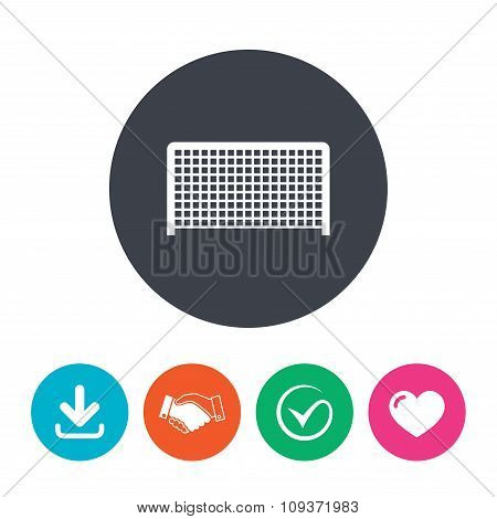 Football gate sign icon. Soccer Sport symbol.