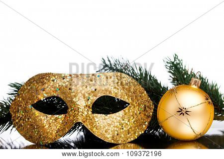Christmas decoration mask with fir