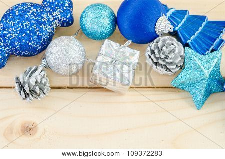 Blue Christmas Decorations.