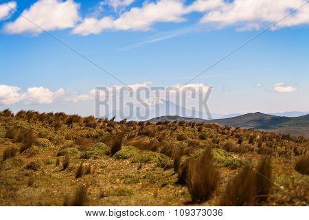 Landscape Of Cotopaxi Volcano