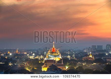 Wat Sraket Rajavaravihara  Bangkok, Thailand