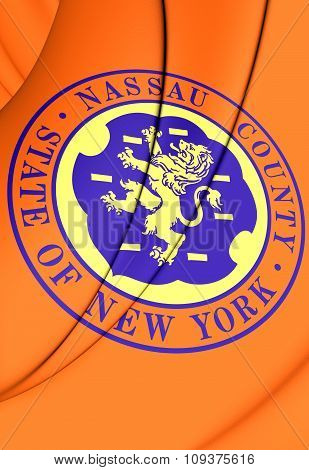 Flag Of Nassau County (new York), Usa.