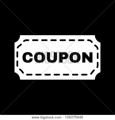 The coupon icon. Discount and gift, offer symbol. Flat