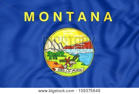Flag Of Montana, Usa.