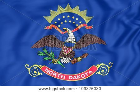 Flag Of North Dakota, Usa.