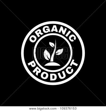 The organic product icon. Eco and bio, ecology symbol. Flat