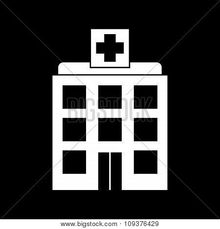 The hospital icon. Medical and ambulance, emergency, healthcare symbol. Flat