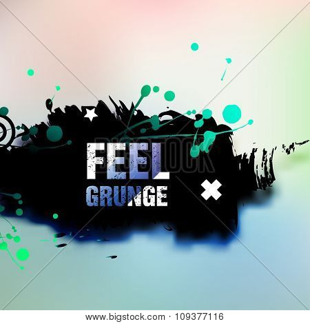 Abstract retro grunge background