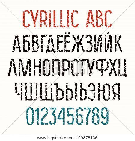 Sanserif Cyrillic  Font