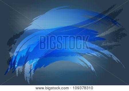 Navy Blue Abstract Brush For Background