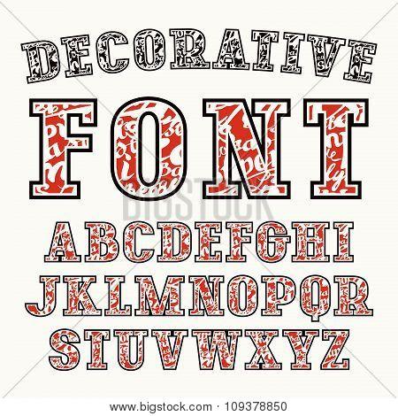 Serif Font With Contour