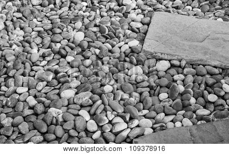 Gravel Stone, Black And White