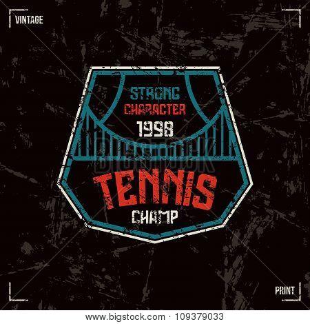Tennis Badge