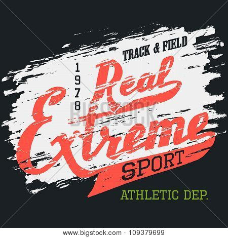 Real Extreme Sport T-shirt Typographic Design