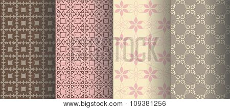 Gentle backgrounds with different patterns