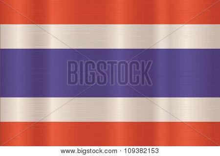 Thailand Flag In Art Design  Vector Illustration