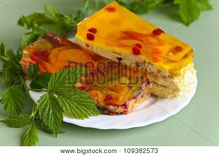 Dessert With Jelly And Fruits