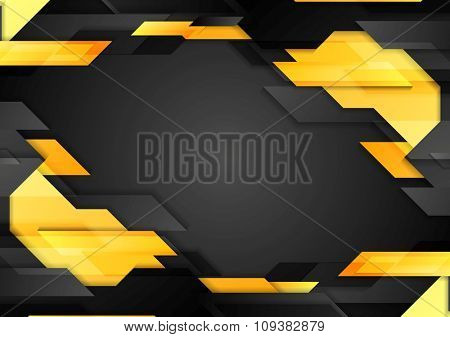 Abstract tech geometric corporate background. Vector design