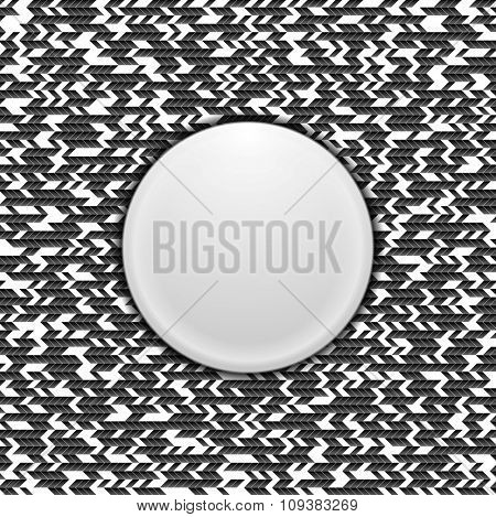Black and white tech texture design. Vector background