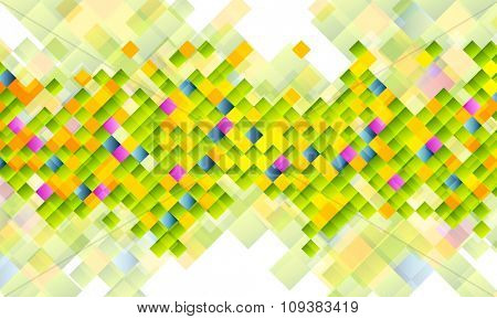 Abstract tech background with colorful squares. Vector design